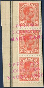 Union Postale Universelle, SPECIMEN COLLECTION MAURITANIEN – Denmark, King Christian X values 20, 25, 40 and 60 øre on cuts.