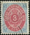 3 Cent bicolored I printing, position 18 in the sheet, used and cancelled with mute cancel. INVERTED FRAME pos. 77, well centered and in a very good condition.