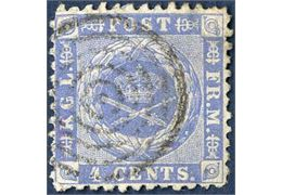 4 cents 1873, used. With INVERTED watermark.