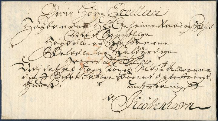"Entire from Aalborg to Copenhagen sent December 1761 with list number "" 1 -  "" Rare and early letter from Aalborg with contents preserved. Very fresh and beautifully manuscript address on front."
