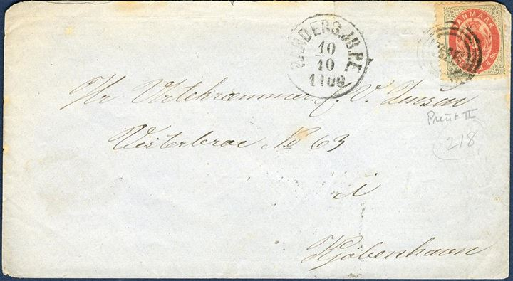 Envelope from the Skilling period with advertising printed on the reverse. Excellent for a thematic watch collector, stamp though defect.