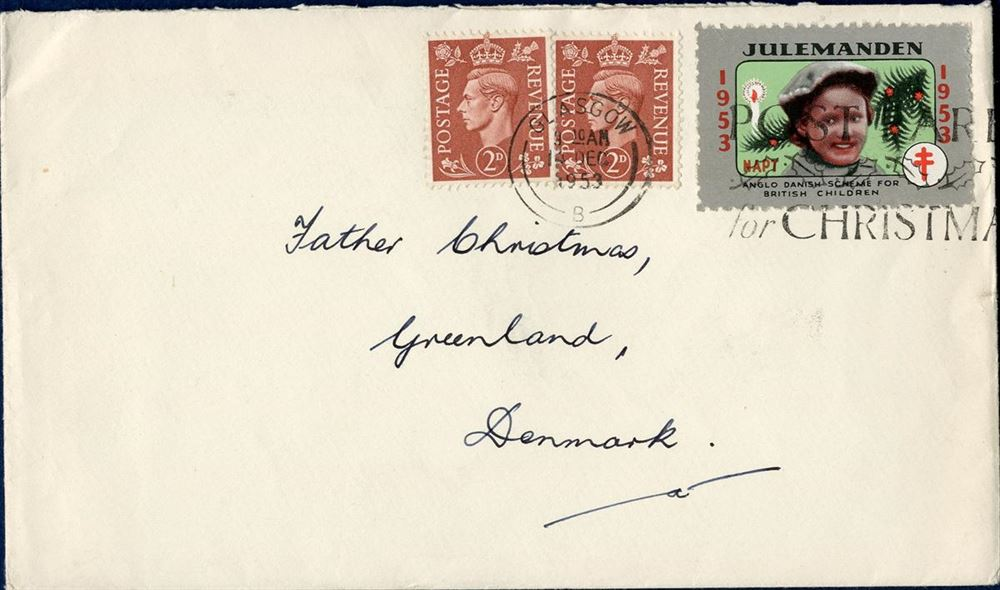 Christmas In Greenland.Letter Sent From Glasgow To Father Christmas In Greenland 14