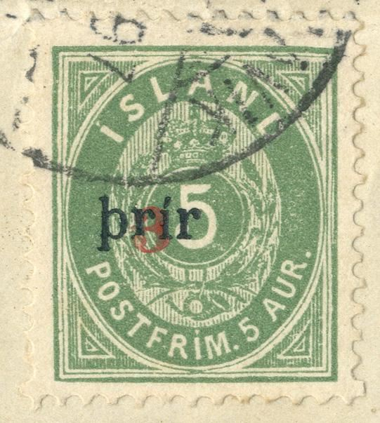 "Provisional ""3 Prir"" LARGE overprint, perf. 12 3/4, used on piece."