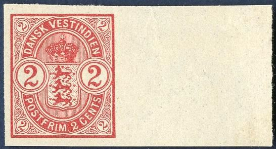 2c and 8c Coat of Arms issue 1902 imperforate colour proofs with sheet margin on creamy white paper without watermark.