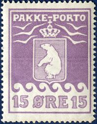 15 øre Parcel-Post II. printing 1923 on thick paper, mint never hinged (Kartonpapir)