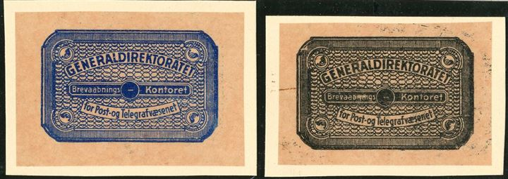 "Set of unique DIE PROOFS of ""The Returned Letter Stamps of 1935"", likely produced in 1934 or 1935 as replacements for the 1930 Issue, which was thought to be too small and difficuelt to read. Printed on Pelure glassine paper."